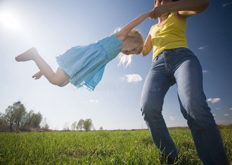 童年幸福 免版税图库摄影