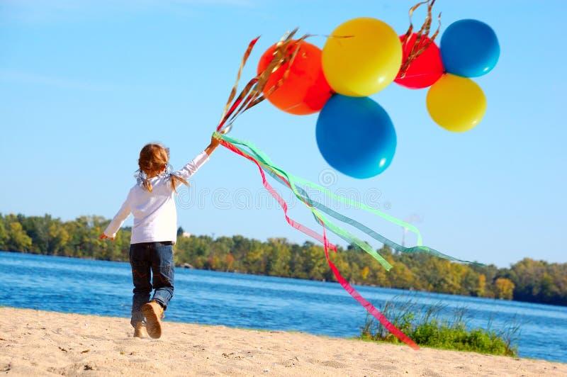 童年自由幸福 库存照片