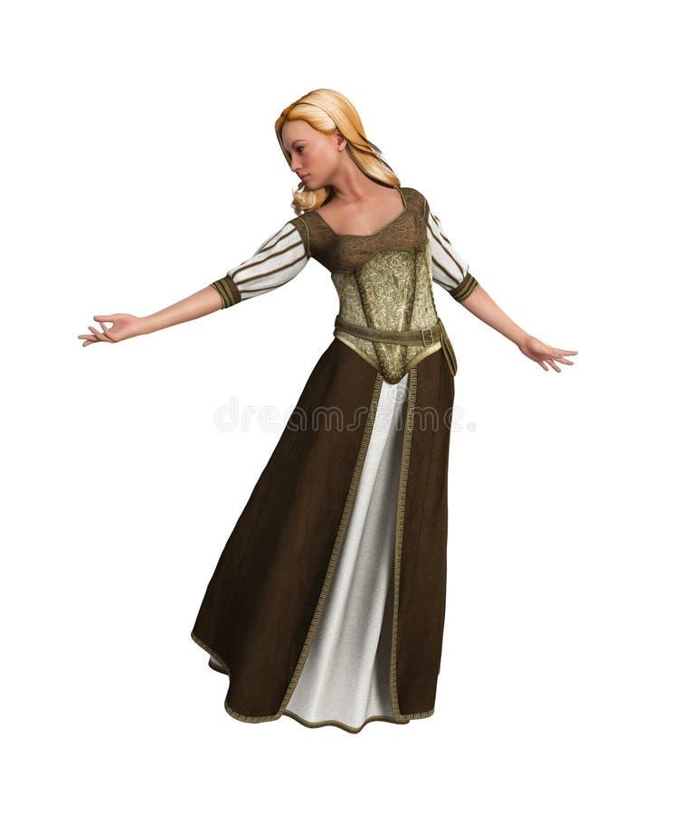Download 童话公主姿势例证 库存图片. 插画 包括有 幻想, beauvoir, 字符, 中世纪, 夫人, 传说, 相当 - 62538475