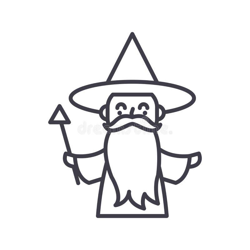 童话字符黑象概念 童话字符平的传染媒介标志,标志,例证 向量例证