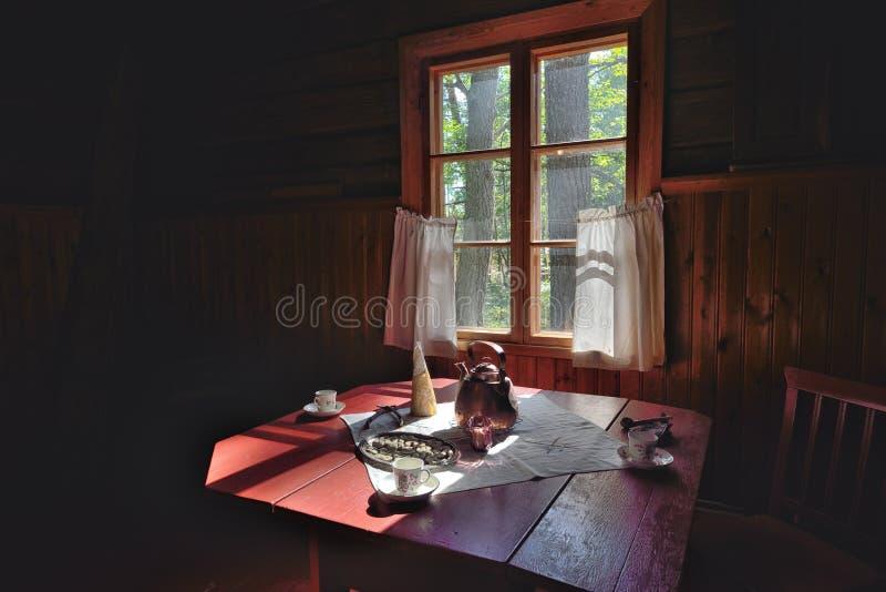 童话村庄房子 免版税图库摄影