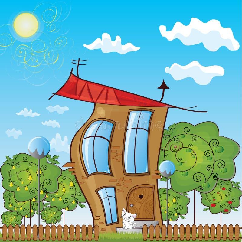 童话村庄 免版税库存图片