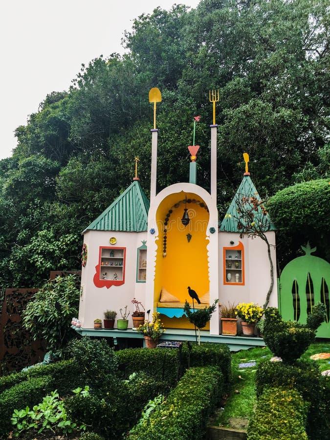 童话的不可思议的房子 免版税图库摄影