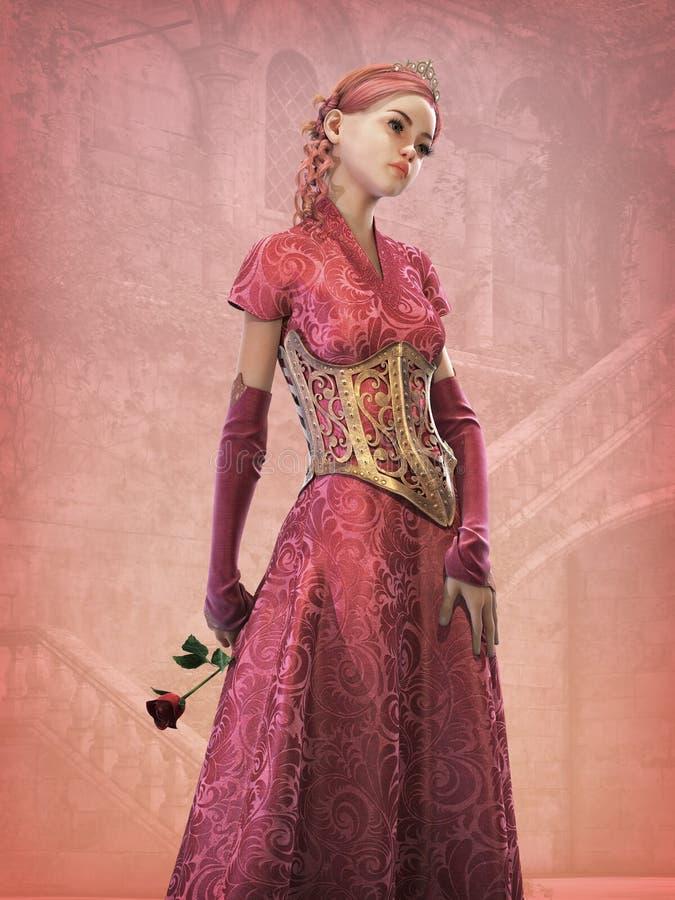 童话3d CG公主, 向量例证