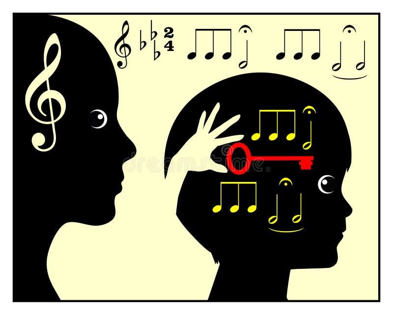 童年音乐教育 皇族释放例证