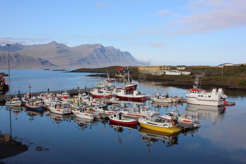端口在冰岛 库存照片