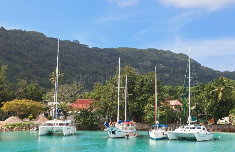 端口在塞舌尔群岛 库存照片