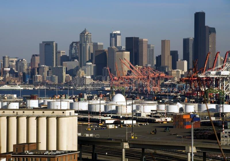 端口西雅图 免版税库存图片