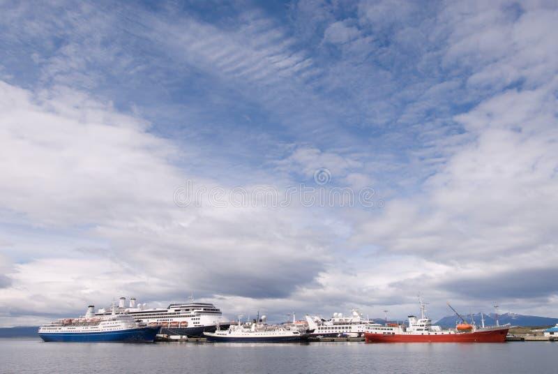 端口ushuaia 免版税图库摄影