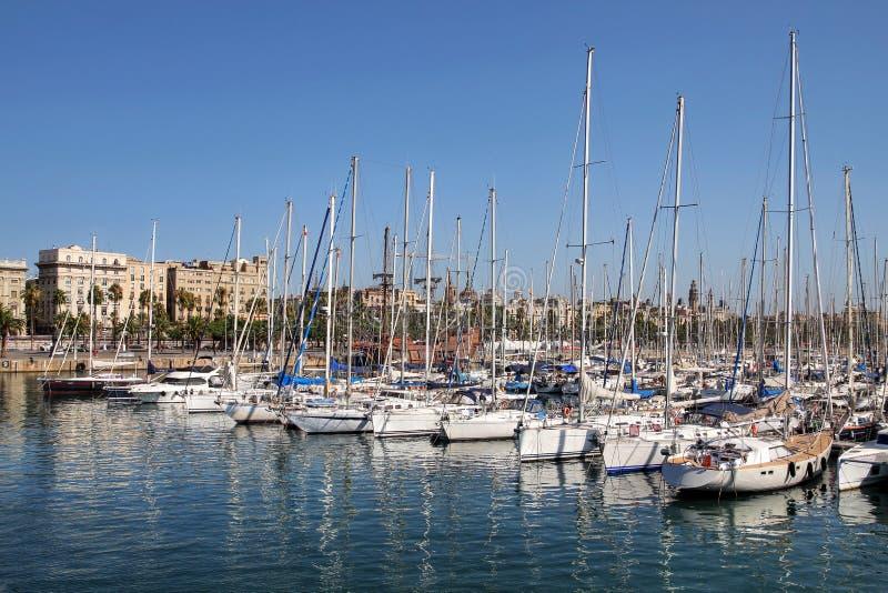 端口Vell,巴塞罗那,西班牙 库存图片