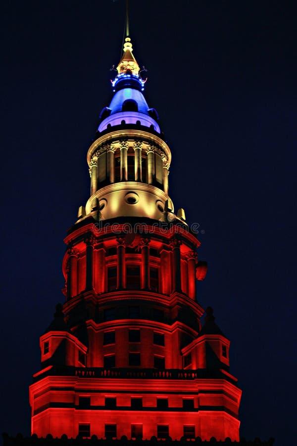 终端塔摩天大楼在克利夫兰,俄亥俄 免版税库存照片