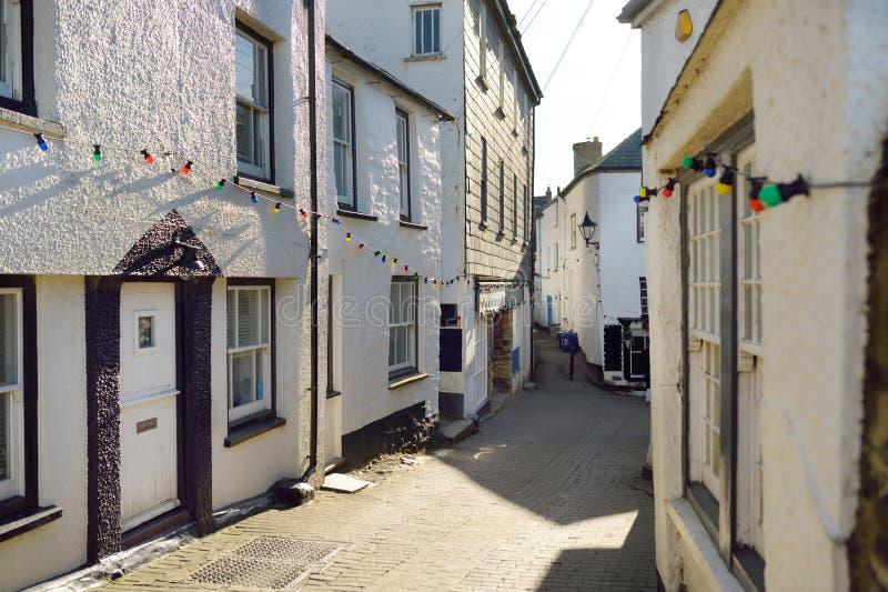 端起以撒,一个小和美丽如画的渔村北部康沃尔郡,英国,英国大西洋海岸的,著名作为ba 免版税图库摄影