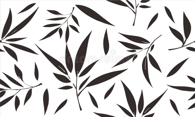 竹叶子,竹叶子的构成有各种各样的变异的,适用于各种各样的目的 皇族释放例证