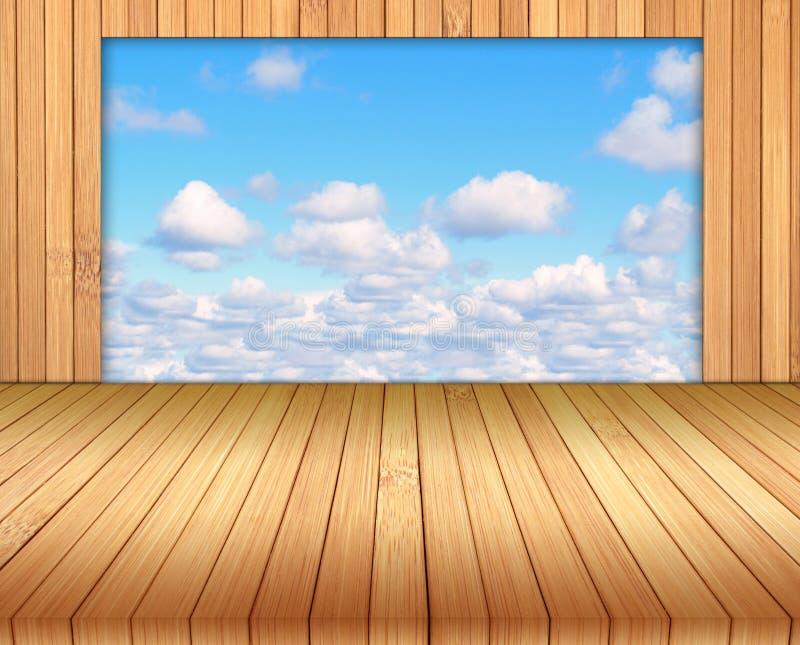 竹地板背景。 免版税图库摄影