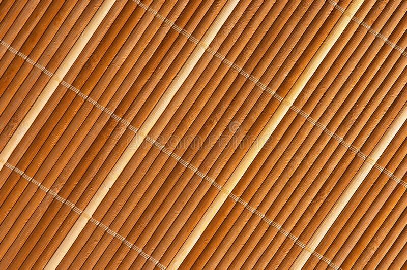 竹地毯 免版税库存照片