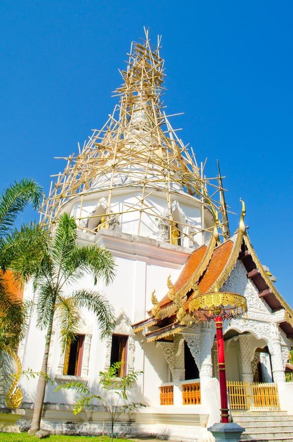 竹塔维修服务结构泰国 免版税图库摄影
