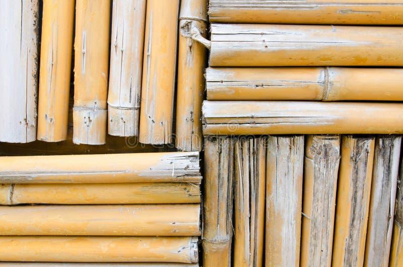 竹墙壁纹理背景 库存图片