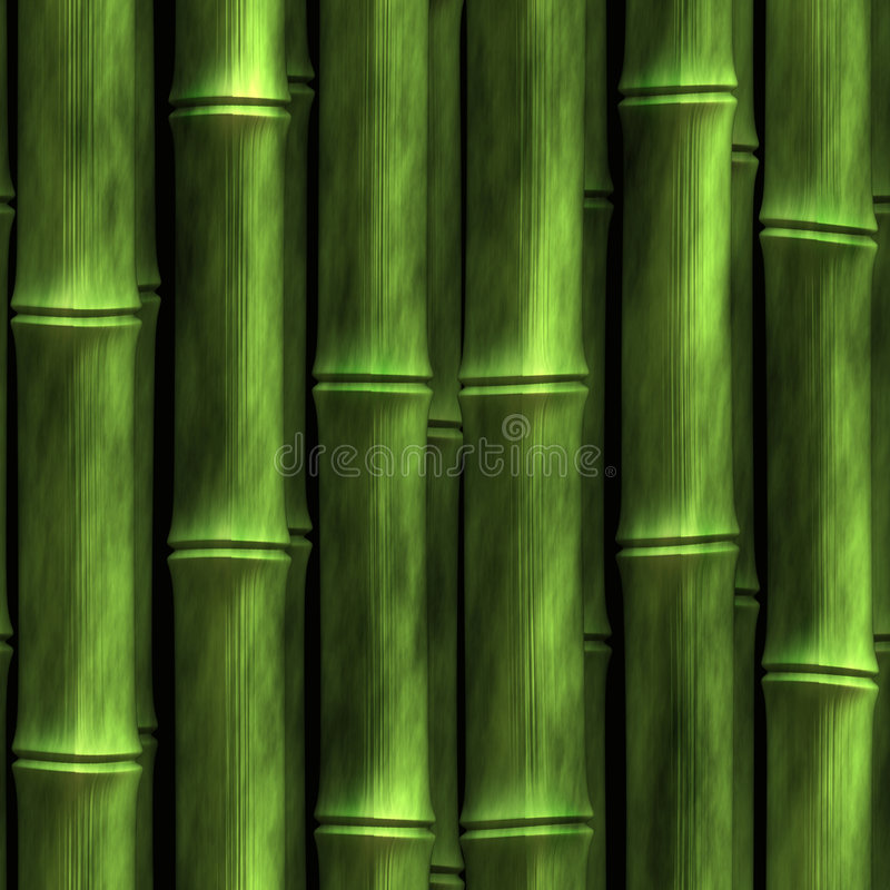 竹墙壁 向量例证