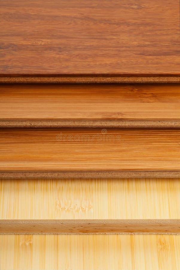 竹子层压制品的地板关闭 免版税库存照片