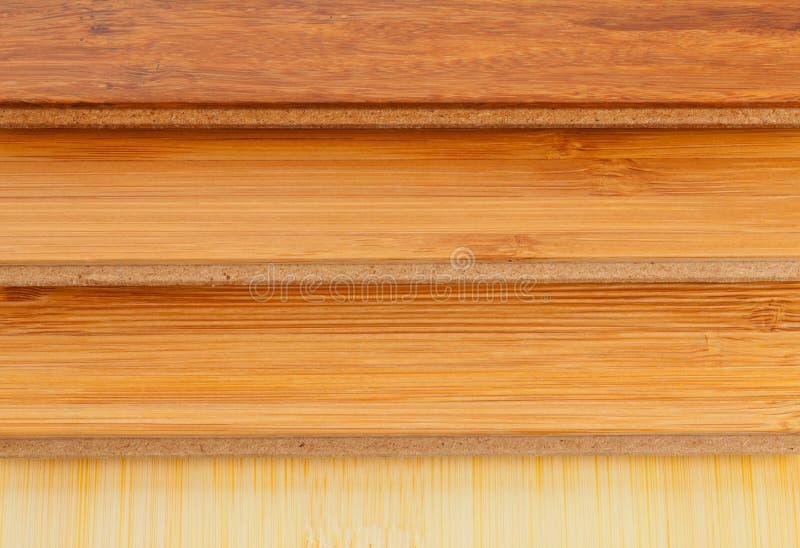 竹子层压制品的地板关闭 库存图片
