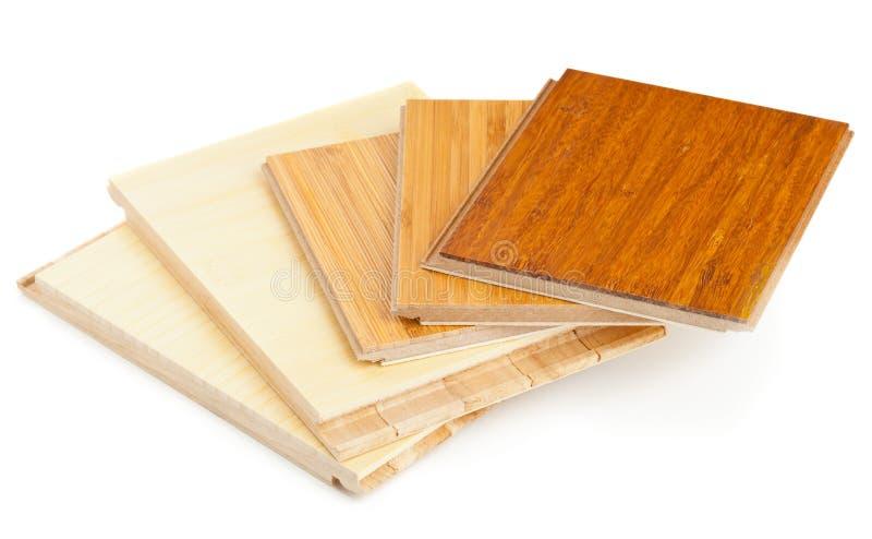竹子层压制品的地板 库存照片
