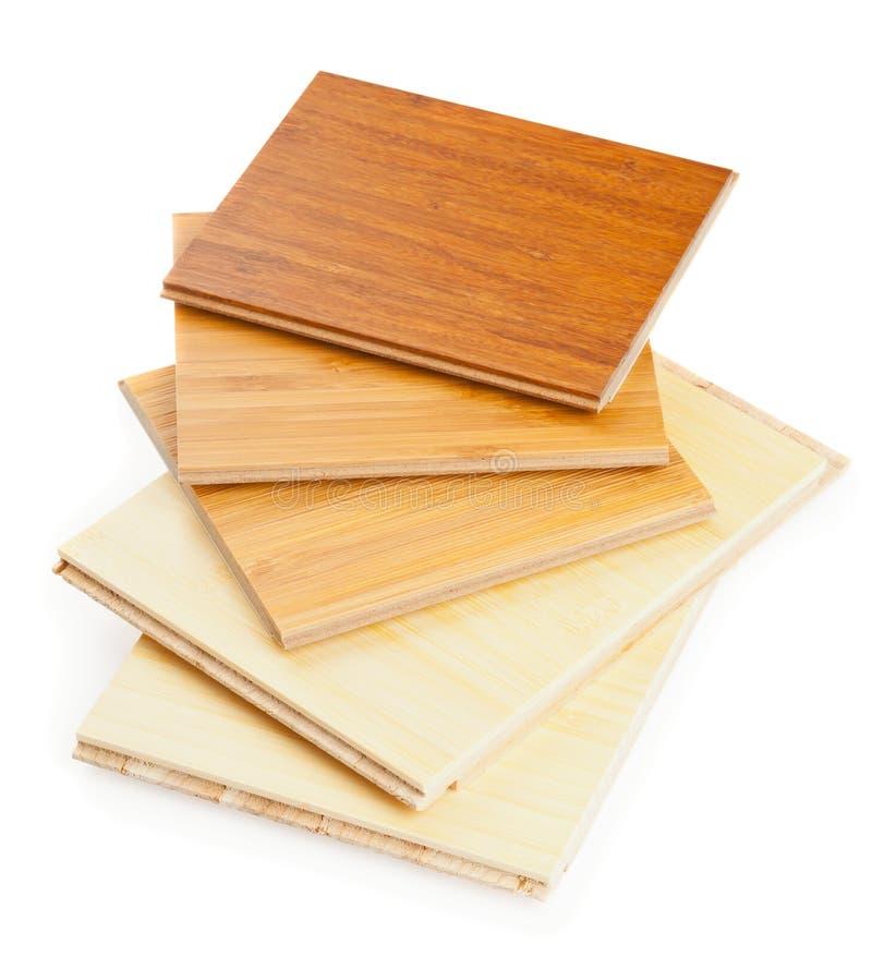 竹子层压制品的地板 免版税库存照片