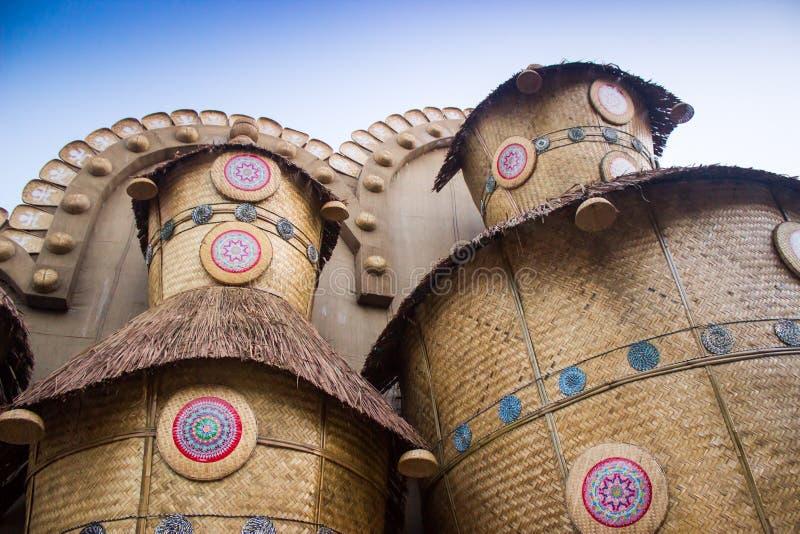 竹房子,艺术性的现代建筑学 库存照片