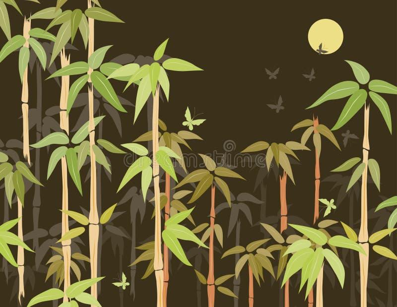 竹无缝的结构丛林向量 库存例证