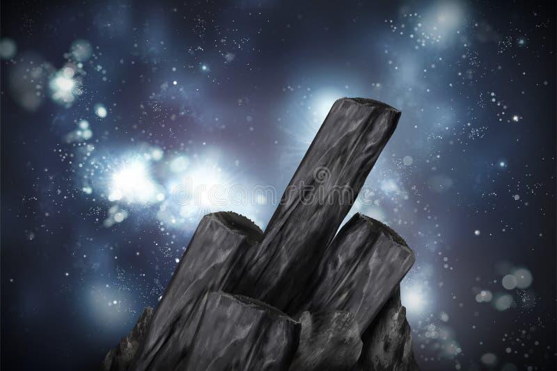 竹木炭元素 皇族释放例证