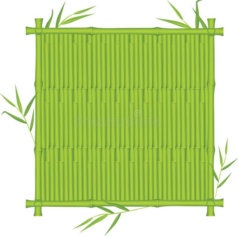 竹框架纹理 库存例证
