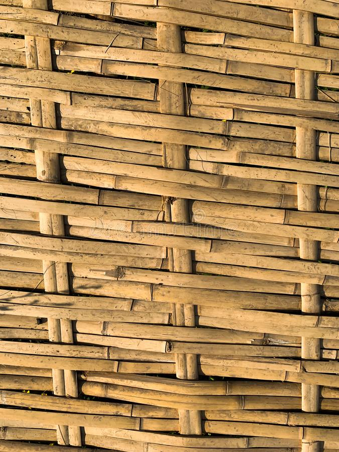 竹织法背景 免版税库存照片
