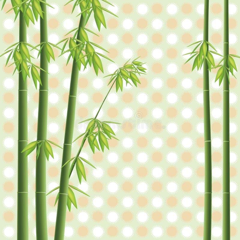 竹结构树向量 皇族释放例证
