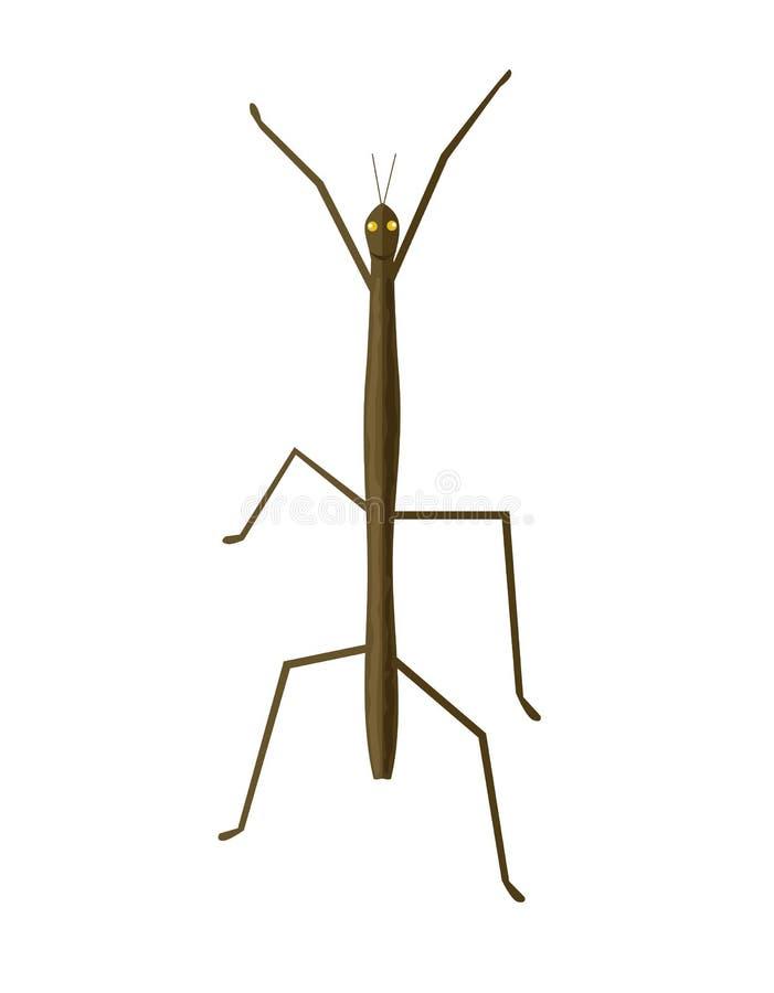 竹节虫或尾觉器象 向量例证