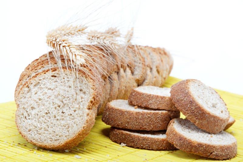 竹面包新鲜的餐巾 库存照片