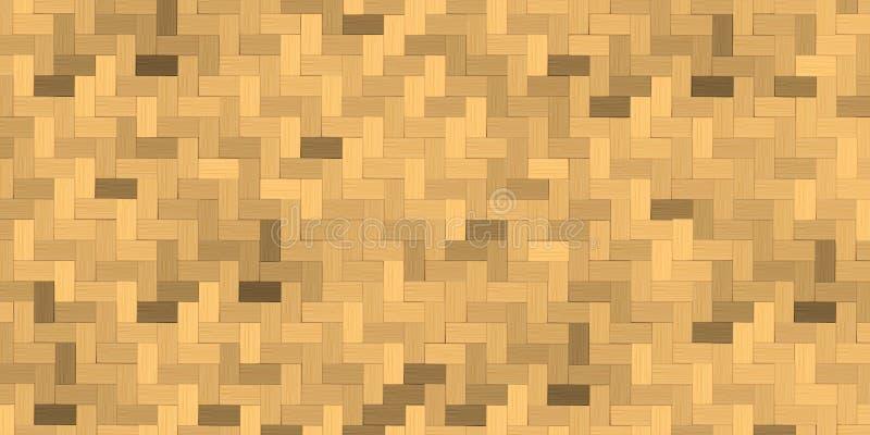 竹织法,篮子纹理背景 向量例证