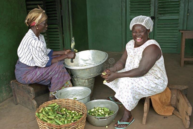 笑声画象加纳的厨师 库存照片
