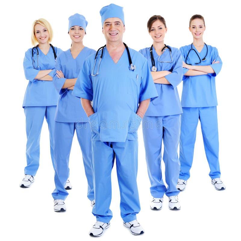 笑成功的外科医生的组 图库摄影