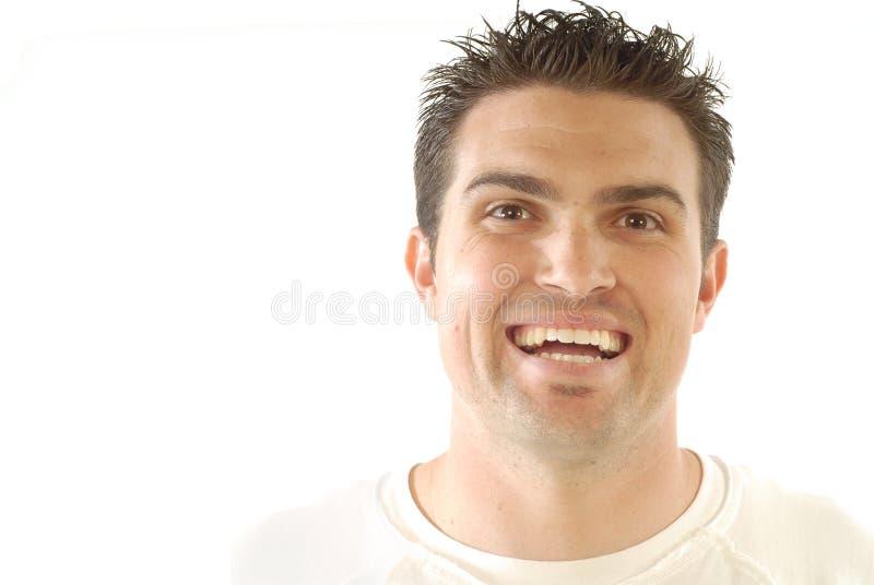 笑的人年轻人 库存图片