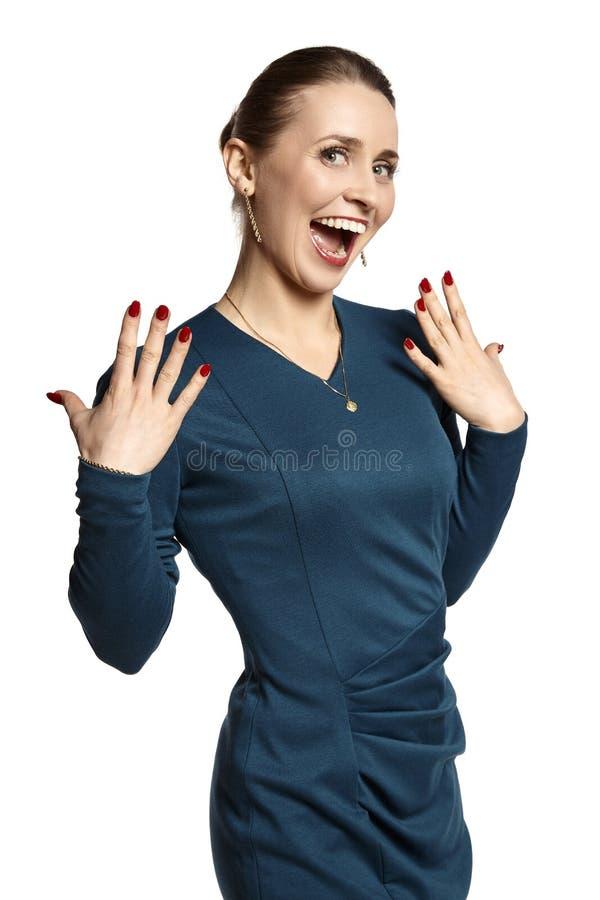笑的妇女年轻人 库存照片