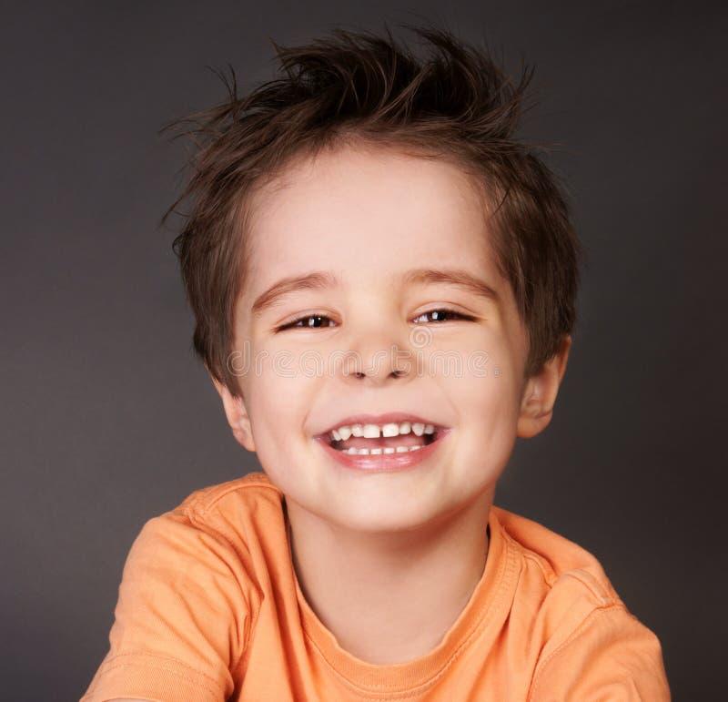 笑的孩子 免版税图库摄影