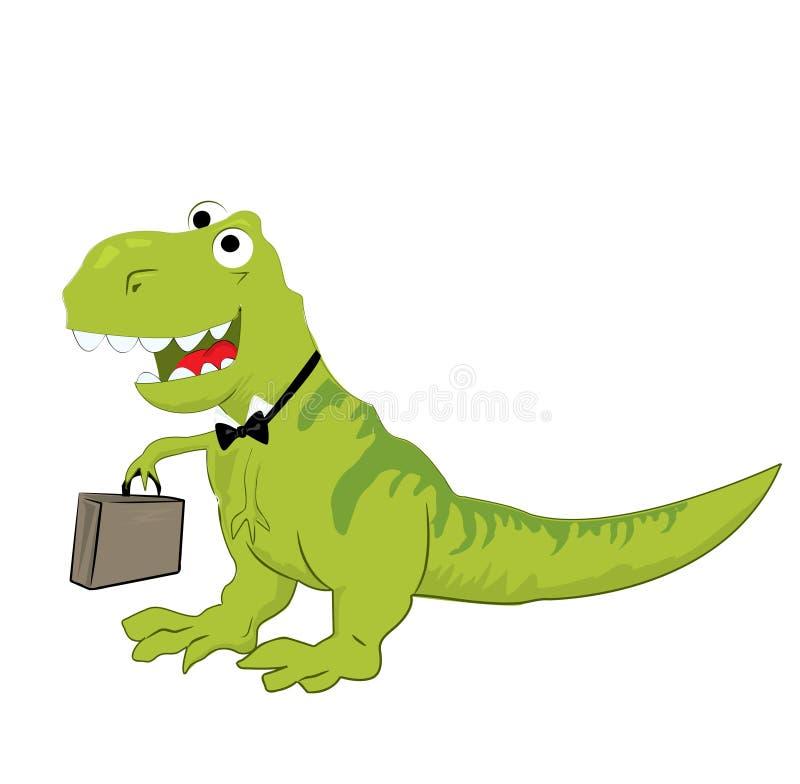 笑的恐龙的例证 库存例证