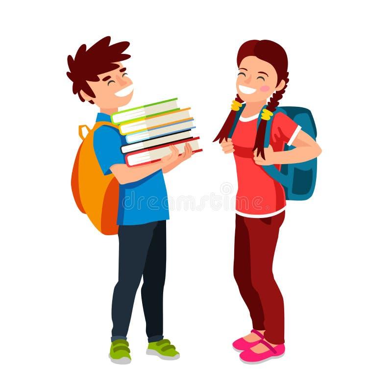 Download 笑的男孩和女孩 向量例证. 插画 包括有 友谊, 男小学生, 男朋友, 例证, 女孩, 人员, 女小学生 - 72350102