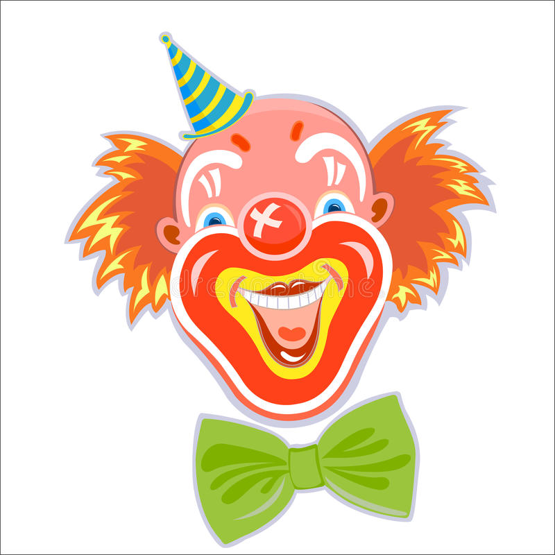 笑的红发小丑 库存例证