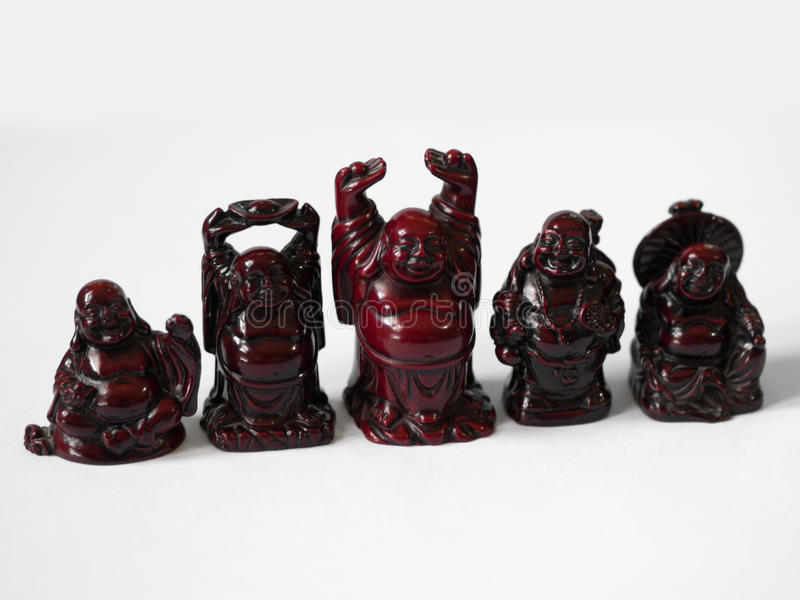 笑的菩萨雕象 免版税库存图片
