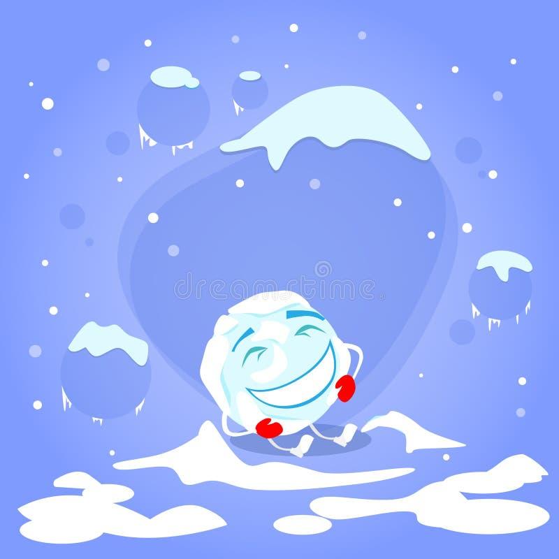 Download 笑红色手套动画片的雪球滑稽 向量例证. 插画 包括有 户外, 动画片, 例证, 庆祝, 冻结, 平面, 子项 - 62525813