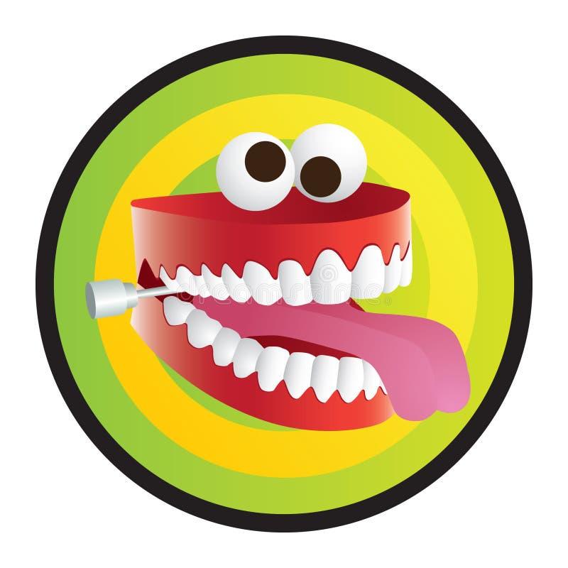 笑话牙 向量例证