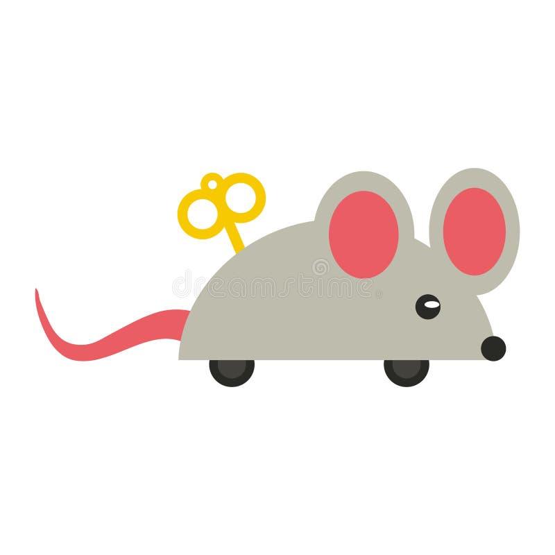 笑话绳索老鼠动画片 皇族释放例证