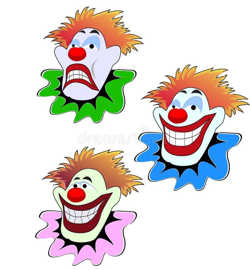 说笑话者面孔 向量例证