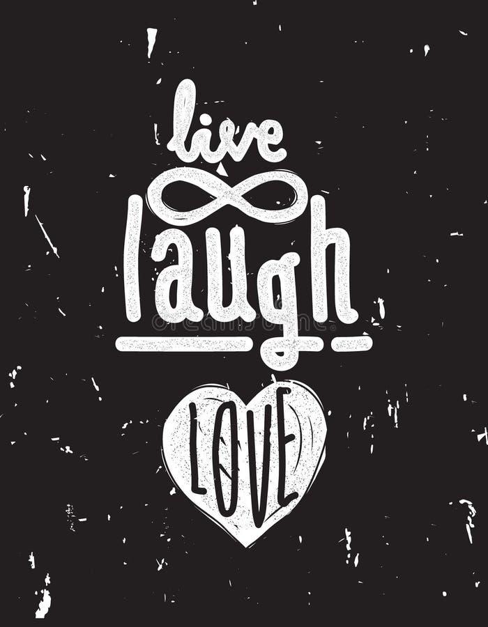 笑活爱 与混乱刷子eff的简单的字法行情 向量例证