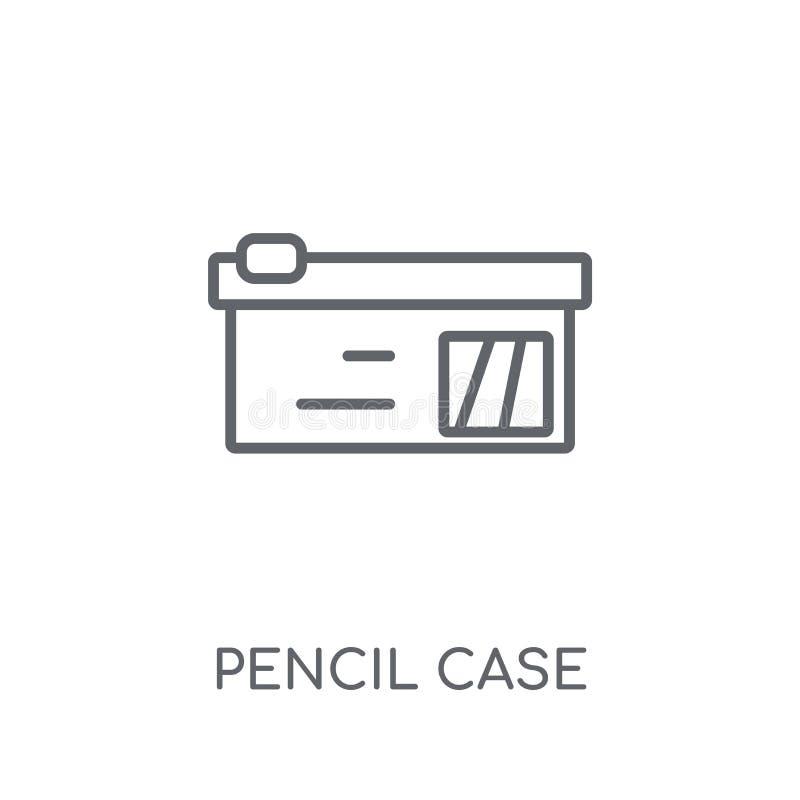 笔匣线性象 现代概述笔匣商标概念 库存例证